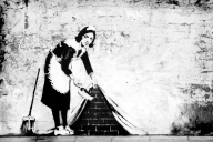 Banksys Maid. Camden North London.