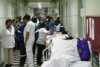 03 NOVIEMBRE 2008 HOSPITAL SOTERO DEL RIO, EN PARO Y COLAPSADO. Fotos:Rolando Morales C.